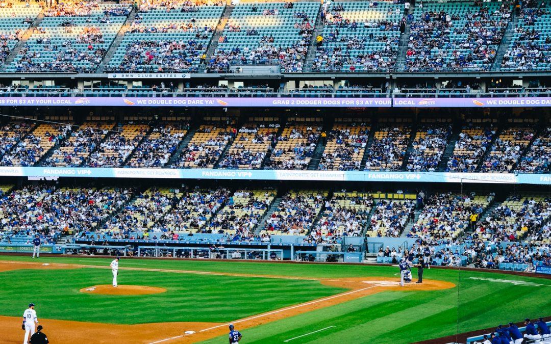 Baseball kamp på Dodgers stadium